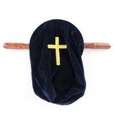 Christian Brands, Velvet Offering Bag with Wood Handles, Multiple Colors Available