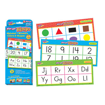 Trend, Alphabet, Number, Color, & Shape - Wipe Off Bingo