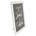 Fueled By Jesus & Coffee Tabletop Plaque, MDF, Black & White, 10 x 8 inches