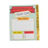 Carson-Dellosa, Aim High Substitute Teacher Folder, 9-5/8 x 11-5/8 Inches, 1 Each, Grades PreK-8