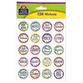 Teacher Created Resources, Confetti Spanish Motivational Stickers, Multi-Colored, 120 Stickers