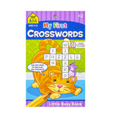 Little Busy Book, My First Crosswords Activity Workbook, 48 Pages, 5.37 x 8.50 Inches, Grades 1-3
