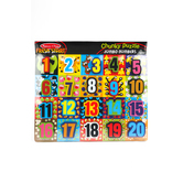 Melissa & Doug, Chunky Jumbo Number Wooden Puzzle, Ages 3 to 5 Years Old, 20 Pieces