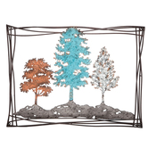 Three Colorful Trees Metal Wall Decor, Metal, Assorted Colors, 23 x 31 x 1 1/2 inches