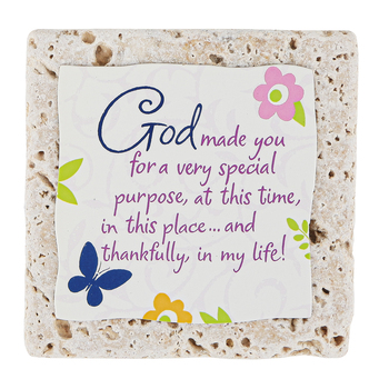 Product Concept Manufacturing, God Made You For a Purpose Tile Plaque, 4 x 4 inches
