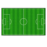 Flagship Carpets, Activity Soccer Field Rug, Green and White, 5 x 8 Feet