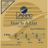 Fear Is A Liar, Accompaniment Track, As Made Popular by Zach Williams, CD
