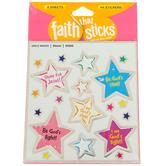 Tyndale, Shine Stickers, Faith That Sticks, 6 Sheets, Silver Foil and Multi-Colored, 114 Stickers