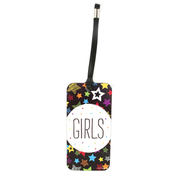 Chalk Talk Collection, Girls Hall Pass, 3 x 6 Inches, Black with Multi-Colored Stars