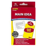 Edupress, Main Idea Reading Comprehension Practice Cards-Red Level, 54 Cards, Reading Level 2.0-3.5