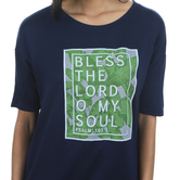 NOTW, Bless the Lord O My Soul, Women's 3/4 Dolman Sleeve Fashion Top, Midnight Navy, XS-2XL