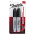 Sharpie, Chisel Tip Permanent Markers, Black, Set of 2 Markers