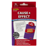 Edupress, Cause and Effect Reading Comprehension Practice Cards-Red Level, 54 Cards, Reading Level 2.0-3.5