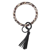 Brownlow Gifts, Cheetah O-ring Keychain, Tan, Brown, Black, 4.50 Inch Diameter