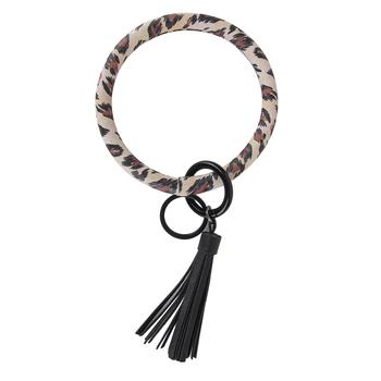 Brownlow Gifts, Cheetah O-ring Keychain, Tan, Brown, Black, 4.50 Inch Diameter
