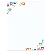 Colorfetti Collection, Letterhead, 8.5 x 11 Inches, Multi-Colored, 50 Sheets
