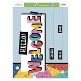Colorfetti Collection, Customizable Welcome Chart, 22 x 17 Inches, Multi-Colored