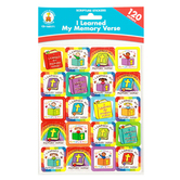 Carson-Dellosa, I Learned My Memory Verse Stickers,  1 x 1 Inch, Multi-Colored, Pack of 120