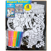Creative Platypus, Puppies Velvet Fun Poster Value Set with Markers, 4 Poster Set, 1 Set