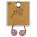 Bella Grace, Lovely Floral Print Dangle Earrings, Zinc Alloy, Gold