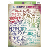 Retro Chic Collection, Classroom Literary Genres Chart, 17 x 22 Inches, Multi-Colored