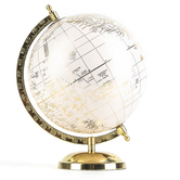 Modern Glam Globe, Pink and Gold, 11 1/2 x 8 Inches