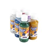 RichArt, Washable Paint Set, 4 ounces, Assorted Glitter Colors, 6 count