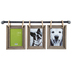 Green Tree Gallery, Pipe Collage Photo Frame, Metal and Wood and Rope, 5 x 7 inches