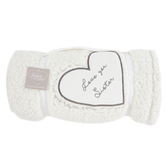 Pavilion Gift, Love You Sister Fringed Blanket, Sherpa, Cream, 42 x 50 inches