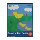 Carolina Pad, UCreate Construction Paper Pad, 9 x 12 Inches, Assorted Colors, 36 Sheets