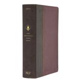 NLT Life Application Study Bible, Third Edition, Imitation Leather, Brown & Mahogany, Thumb Indexed