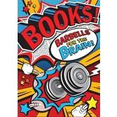 Books! Barbells - Motivational Poster