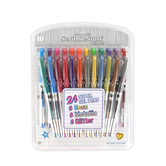 Write Dudes, Super Gel Pens, Medium Point, Assorted Colors, Pack of 24