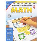 Carson-Dellosa, Interactive Notebooks Math Resource Book, Reproducible Paperback, 96 Pages, Grade 6