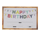 Farmhouse Lane Collection, Happy Birthday Certificates, 8.5 x 5.5 Inches, Multi-Colored, Pack of 30