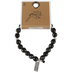 Bella Grace, Set Free Stretch Bracelet, Glass Beads, Black