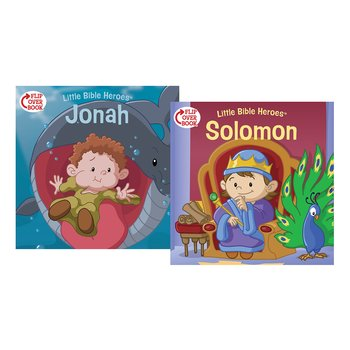 Little Bible Heroes, Solomon and Jonah, Flip-Over Book, by Victoria Kovacs, Paperback