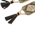 Wildflower Road, Have Faith Tassel Dangle Earrings, Zinc Alloy and Leather, Gold