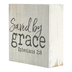 P. Graham Dunn, Ephesians 2:8 Saved By Grace Tabletop Plaque, Pine Wood, 3 1/2 x 3 1/2 inches