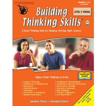 The Critical Thinking Co., Building Thinking Skills Level 3 Verbal, Paperback, 384 Pages, Grades 7-12 and up