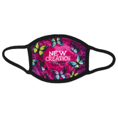 Kerusso, New Creation In Christ Butterfly Kids Mask, Purple, One Size Fits Most Ages 3 to 10, 1 Mask