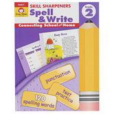 Evan-Moor, Skill Sharpeners Spell & Write Activity Book, Paperback, 144 Pages, Grade 2