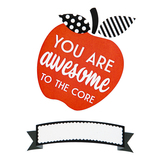 Schoolgirl Style, Black, White and Stylish Brights You Are Awesome to the Core Bulletin Board Set