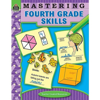 Teacher Created Resources, Mastering Fourth Grade Skills Activity Workbook, 240 Pages, Grade 4
