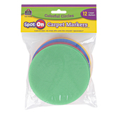 Teacher Created Resources, Spot On Carpet Markers Colorful Circles, Assorted Colors, 12 Pieces, 4 Inches