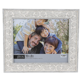 Green Tree Gallery, Floral Scroll Tabletop Photo Frame, Grey, 13 x 10.75 Inches, holds 8 x 10 Photo