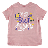 NOTW, Jesus Is My Best Friend, Kid's Short Sleeve T-shirt, Mauve, 3T-Youth Large