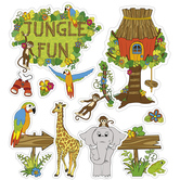 Jungle Fun Bulletin Board Set, 12 Pieces