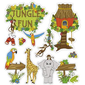 Jungle Fun Bulletin Board Set, 12 Pieces