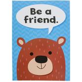 Creative Teaching Press, Be A Friend Woodland Friends Inspire U Poster, 13 x 19 Inches, 1 Piece